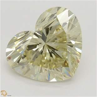 .01 ct, Lt. Brown Yellow/VS1, Heart cut Diamond