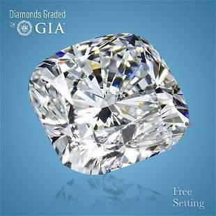 4.01 ct, Color D/VS1, Cushion cut Diamond