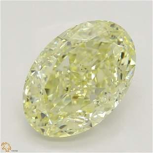 3.02 ct, Yellow/VS2, Oval cut Diamond