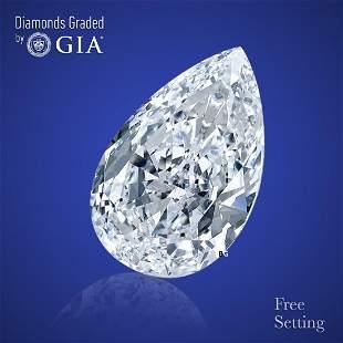 5.01 ct, Color E/VVS2, Pear cut Diamond