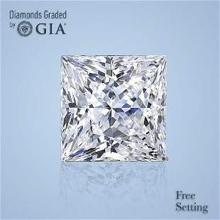 4.56 ct, Color G/VVS2, Princess cut Diamond