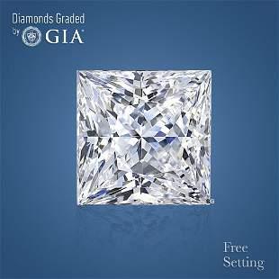 3.51 ct, Color F/VS1, Princess cut Diamond