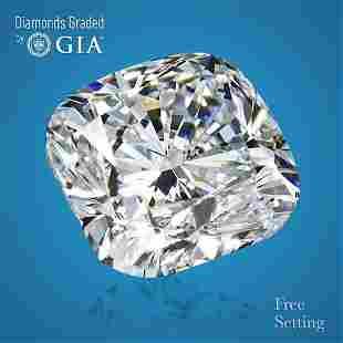 4.01 ct, Color G/VS1, Cushion cut Diamond