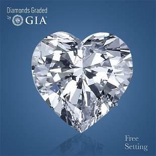 4.07 ct, Color D/VVS2, Heart cut Diamond
