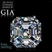 4.01 ct, Color H/VVS2, Sq. Emerald cut Diamond