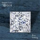 4.01 ct, Color H/VS1, Princess cut Diamond