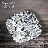 3.50 ct, Color D/VVS1, Cushion Bri. cut Diamond