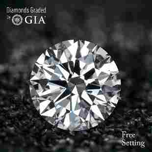 1.02 ct, Color D/IF, Round cut Diamond