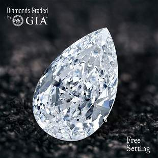 2.01 ct, Color F/VS2, Pear cut Diamond