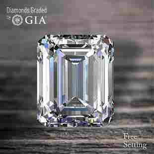 3.07 ct, Color F/VS2, Emerald cut Diamond