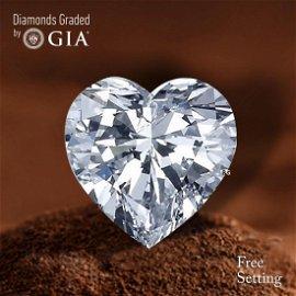 3.02 ct, Color D/VVS1, Heart cut Diamond