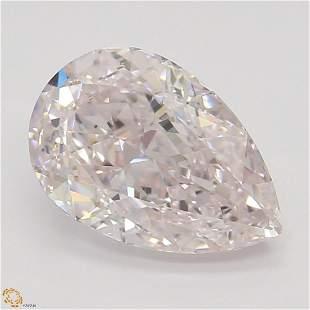 1.20 ct, Lt. Pink/VVS1, TYPE IIA Pear cut Diamond