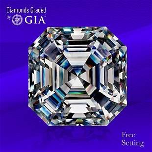 4.01 ct, Color D/FL, Sq. Emerald cut Diamond