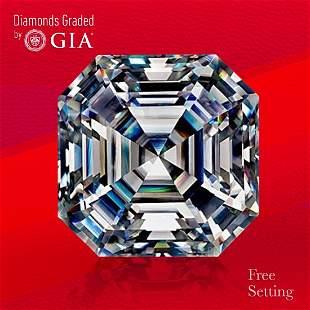 3.30 ct, Color F/VVS1, Sq. Emerald cut Diamond