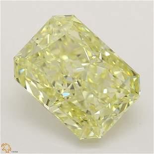 2.17 ct, Yellow/VVS2, Radiant cut Diamond