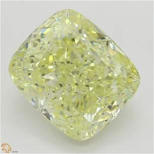 5.01 ct, Yellow/VS1, Cushion cut Diamond