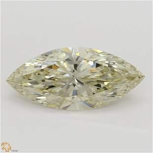 2.02 ct, Lt. Brn. Yellow/IF, Marquise cut Diamond