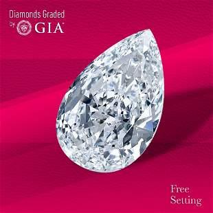 3.02 ct, Color G/IF, Pear cut Diamond