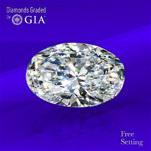 2.01 ct, Color G/VVS1, Oval cut Diamond