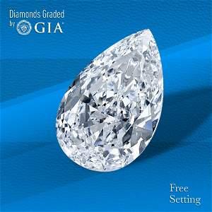 4.01 ct, Color D/IF, TYPE IIA Pear cut Diamond
