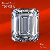 5.05 ct, Color D/VVS2, Emerald cut GIA Graded Diamond