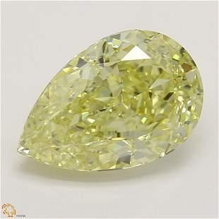 1.54 ct, Yellow/IF, Pear cut GIA Graded Diamond