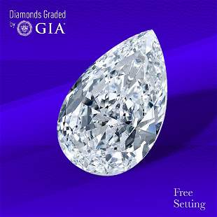 1.51 ct, Color D/IF, Pear cut GIA Graded Diamond