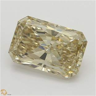 1.52 ct, Lt. Yellow Brown/SI1, Radiant cut GIA Graded