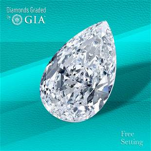 3.02 ct, Color G/IF, Pear cut GIA Graded Diamond