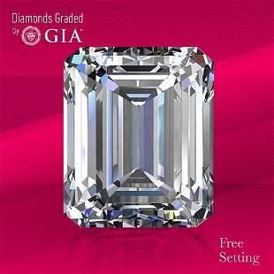 3.00 ct, Color F/VVS1, Emerald cut GIA Graded Diamond