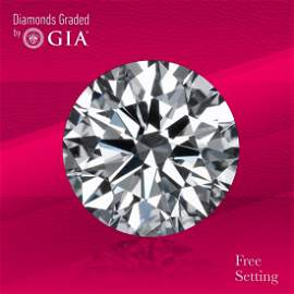 5.18 ct, Color D/FL, TYPE IIa Round cut GIA Graded