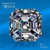 1.80 ct, Color D/VVS2, Sq. Emerald cut GIA Graded