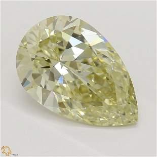 2.05 ct, Brn. Yellow/VS2, Pear cut GIA Graded Diamond