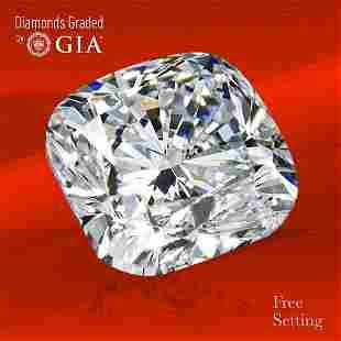 5.01 ct, Color E/VS2, Cushion cut GIA Graded Diamond