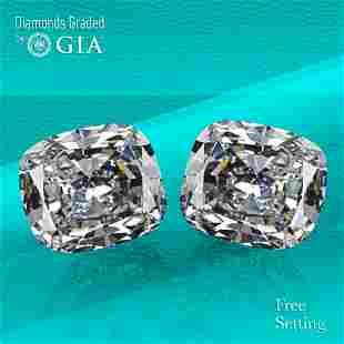 .03 ct Cushion cut GIA Graded Diamond Pair