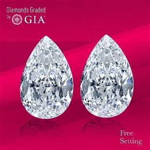 6.03 ct Pear cut GIA Graded Diamond Pair