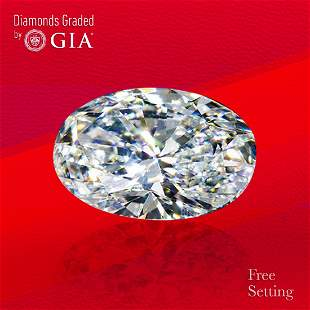 3.01 ct, Color E/VVS2, Oval cut GIA Graded Diamond