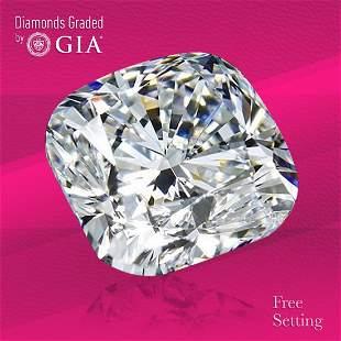 3.69 ct, Color E/VVS2, Cushion cut GIA Graded Diamond