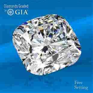 3.53 ct, Color G/VVS2, Cushion cut GIA Graded Diamond