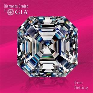 3.11 ct, Color F/VS2, Sq. Emerald cut GIA Graded