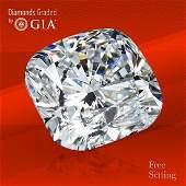 3.02 ct, Color F/VVS2, Cushion cut GIA Graded Diamond
