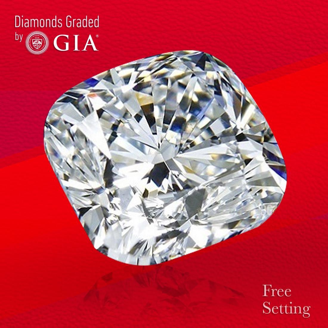 3.51 ct, Color F/VVS2, Cushion cut GIA Graded Diamond