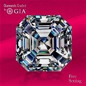 5.04 ct, Color F/VS1, Sq. Emerald cut GIA Graded