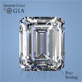 3.18 ct, Color D/FL, Emerald cut GIA Graded Diamond