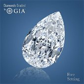 5.01 ct, Color G/IF, Pear cut GIA Graded Diamond