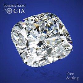 3.01 ct, Color E/VVS2, Cushion cut GIA Graded Diamond