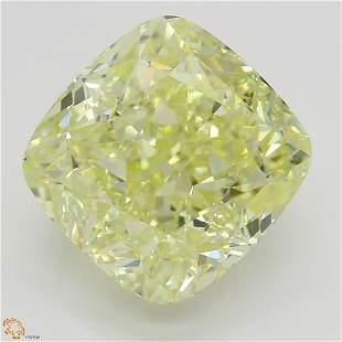 5.02 ct, Yellow/IF, Cushion cut GIA Graded Diamond