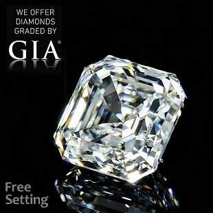 2.01 ct, Color F/VVS2, Square Emerald cut GIA Graded