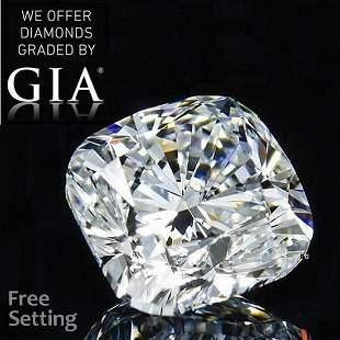 3.50 ct, Color E/VVS2, Cushion cut GIA Graded Diamond