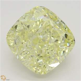 5.02 ct, Yellow/VVS1, Cushion cut GIA Graded Diamond